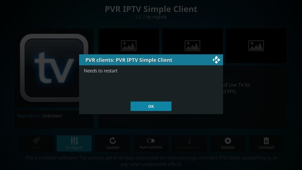 skonfiguruj i używaj pvr iptv prosty dodatek klienta kodi 18